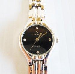 Peugeot Black Face Women's Watch w Diamond Markers