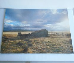 Wells Fargo Stage Poster, Stagecoach at Relay Stop 14x20inch