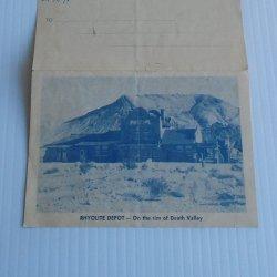 Rhyolite Depot Vintage Ghost Town Postcard Pamphlet c1950s