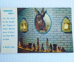 El Rancho Las Vegas Nugget Nell Bar Vintage Postcard