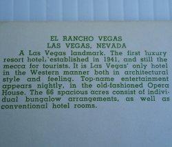 '.El Rancho Las Vegas 1956.'