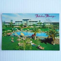 Flamingo Hotel Casino Las Vegas Nevada c1950s Postcard