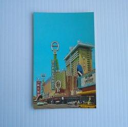 Fremont Street Downtown Las Vegas Vintage 1960s Postcard