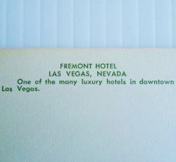 '.Fremont Hotel Las Vegas 1960s.'