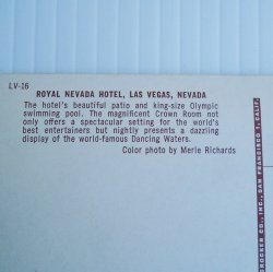 '.Royal Nevada Hotel 1955 Vegas.'
