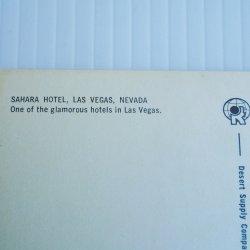 '.Sahara Hotel Las Vegas 1960s.'