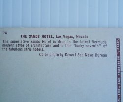 '.Sands Hotel Las Vegas 1954.'
