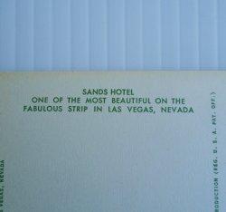 '.Sands Hotel Las Vegas 1960s.'