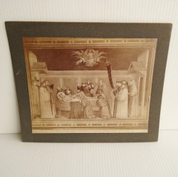 Antique Alinari Print Giotto Florence Italy St. Francis 3933