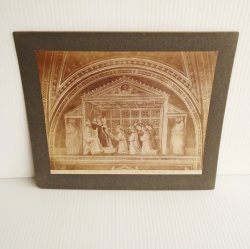 Antique Alinari Print Confirm of Rule, Giotto Florence 3934