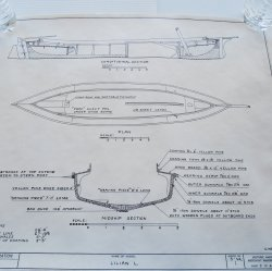 '.Lillian L. Log Canoe plans.'