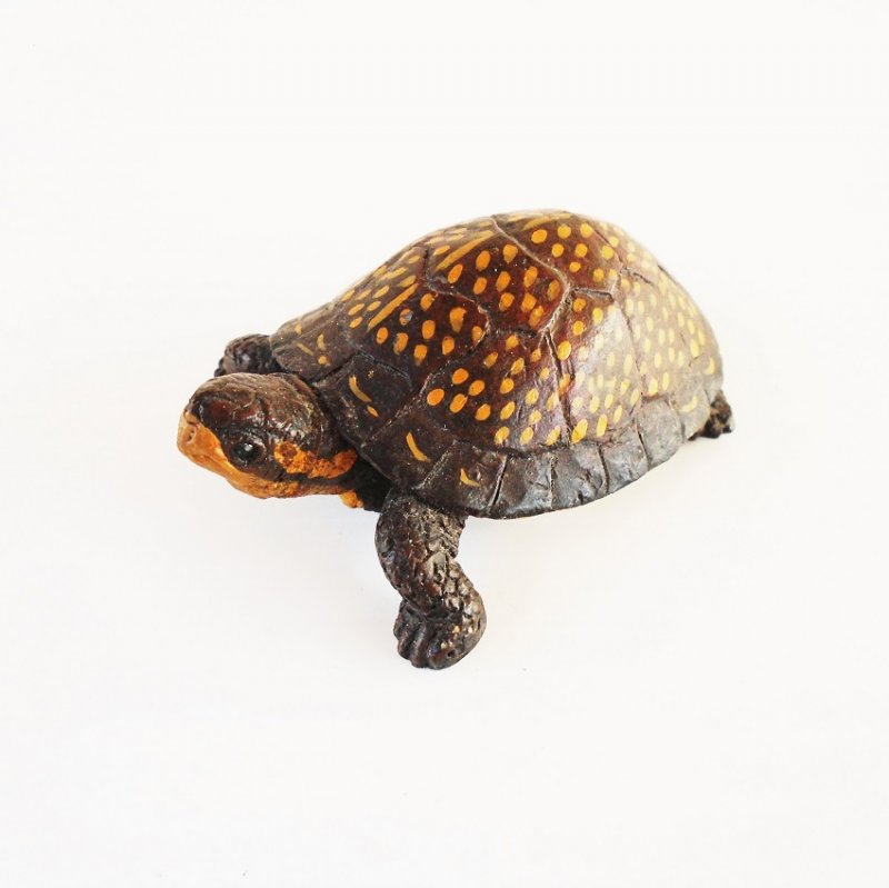 Land & Sea Collectibles tortoise dated 1993. 2 by 2.5 inches. Solid. Believed to be carved from wood.