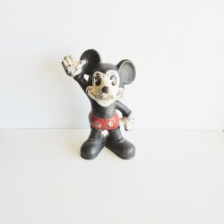 Mickey Mouse Cast Iron Bank, Taller 9 Model, c1930s