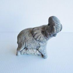 Mt. St. Helen's Volcanic Ash Elephant Sculpture