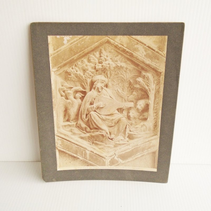 Antique Alinari Print or picture, unsure of which, of Orpheus and Music, Florence Italy