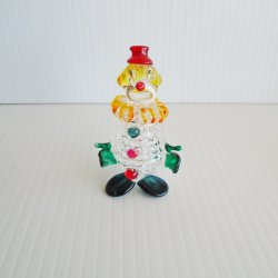Clown Art Glass, 3 inch, Possibly Blenko