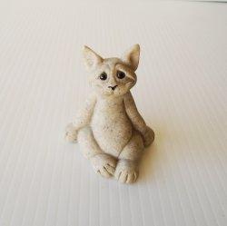 Quarry Critters, Carl the Cat Stone Figurine