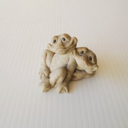 Quarry Critters, Fric and Frac the Frogs Stone Figurine