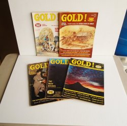Gold Magazine, 5 issues, 1976, 1977, Treasures Mines