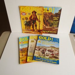 Gold Magazine, 5 issues, 1971 - 1974, Treasures Mines