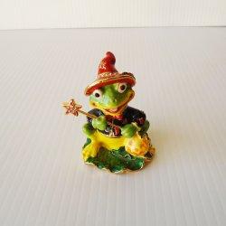 Objet d'art 'Murgatroyd' the Halloween Frog Trinket Box