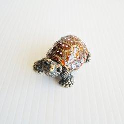 Crystal Jeweled Turtle Tortoise Trinket Box, Objet d'Art