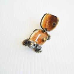 '.Jeweled Turtle Trinket Box.'