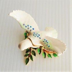 '.White Dove Trinket Box Objet d.'