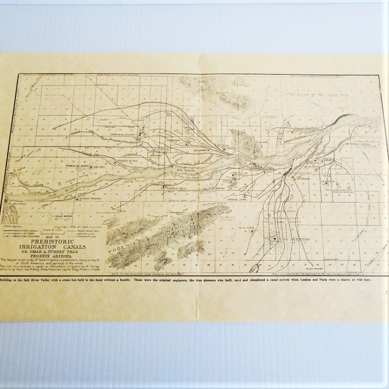 Map 1 Phoenix Arizona Salt River Project vintage maps. 4 maps dated 1929, 1952, 1960s, and 2000. All excellent condition and ready to frame