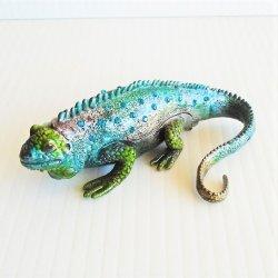 Grand Cayman Blue Iguana Trinket Box, Objet d'Art 156