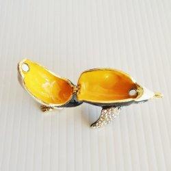 '.Macaroni Penguin Trinket Box.'