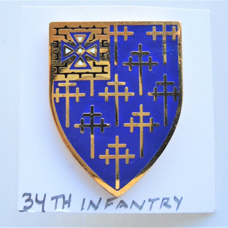 34th U.S. Army Infantry DUI pin