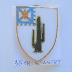 35th US Army Infantry Regiment 1960s DUI Insignia Pin