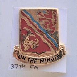 37th US Army Field Artillery DUI Insignia Pin