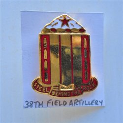 38th US Army Field Artillery DUI Insignia Pin