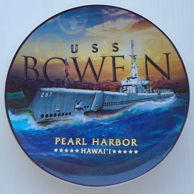 U.S.S. Bowfin Submarine SS-287 Pearl Harbor Collectible Plate
