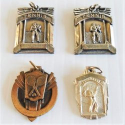 Tennis Championship Award Charms, 4 Charms From 1950s