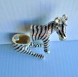 '.Zebra Trinket Box Objet d'Art.'