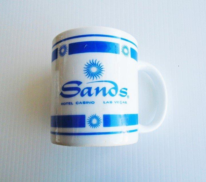 Sands Hotel Casino Las Vegas NV set of 4 coffee cups