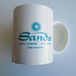 '.Sands Casino LV, 4 Coffee Cups.'