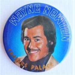 """Wayne Newton Caesars Palace 1980s, 3 Pinback Buttons, 3"""""""