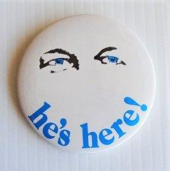 "Frank Sinatra 1980s Caesars Palace Pinback Button, 3"""