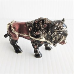 Objet d'Art Jeweled Buffalo Thunder Trinket Box #10