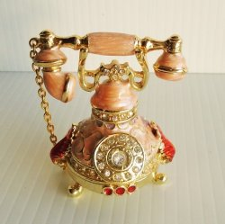 Objet d'Art Classic Telephone Jeweled Trinket Box, Bonnie #1