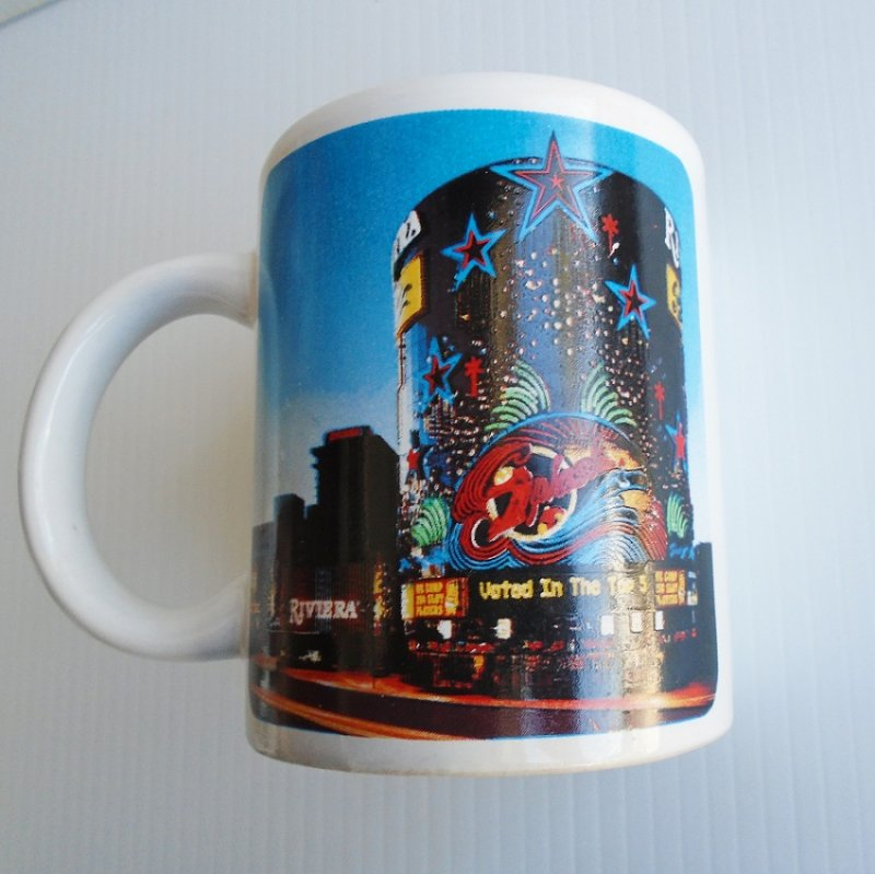 Vintage Riviera Hotel Casino coffee cups. Set of 2. Estimated age 1990 to 2015