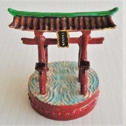 Objet d'Art Island Shrine Scenic Beauty Trinket Box #102