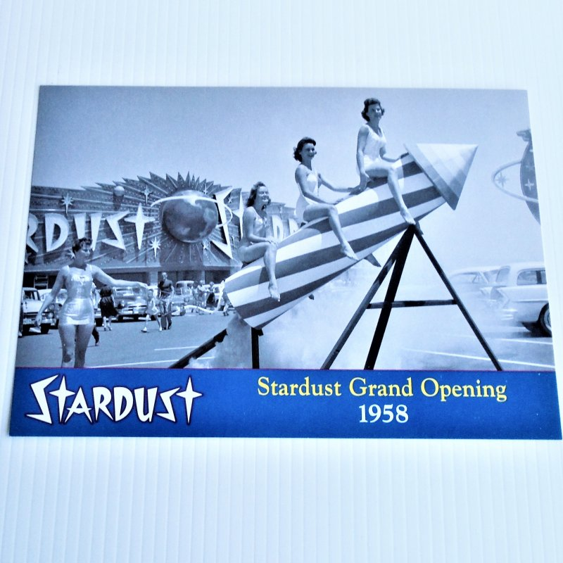 Stardust Hotel Casino Las Vegas showing the 1958 grand opening. 10 by 7 inch photo.