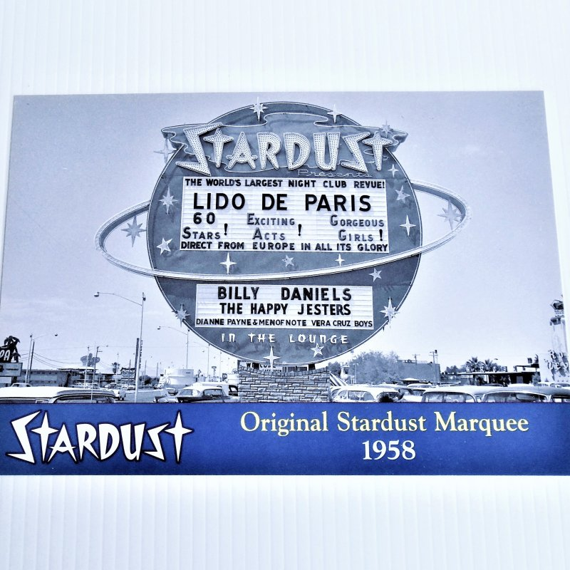 Stardust Hotel Casino Las Vegas showing the 1958 Lido De Paris original marquee sign. 10 by 7 inch photo.