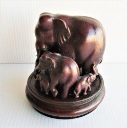 '.Elephant family statue.'