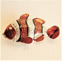 Objet d'Art Mahalo Clown Fish Jeweled Trinket Box #115